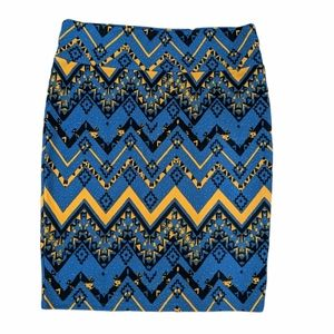 🦋NWOT LULAROE 3X Tribal Print Cassie Pencil Skirt